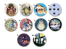 10 X Hayao Miyazaki & Studio Ghibli buttons (25mm, badges,pins,mononoke,ponyo)