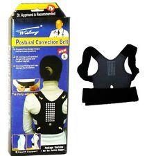 Posterior postura corrección cinturón apoyo Sport Corrector Brace Cinturón Unisex Negro Nuevo