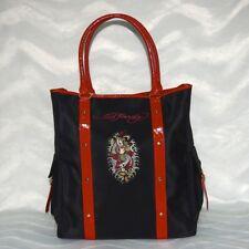 ED HARDY Handtasche / Shopper Schwarz/Rot