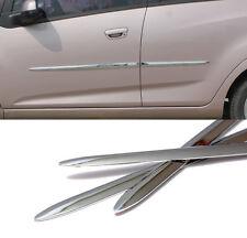 Side Chrome Door Garnish Molding Trim Sill 4p For 2010-2012 Chevy Spark : Matiz