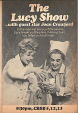 1968 Tv Ad ~ Lucille Ball & Joan Crawford on The Lucy Show ~ I Love ~ 5 x 7
