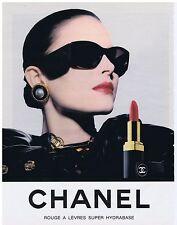 PUBLICITE ADVERTISING 054 1989 CHANEL rouge à lèvres super hydrabase