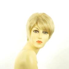 Perruque femme courte blond doré méché blond très clair  ELSA 24BT613