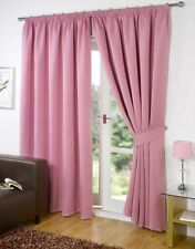 Thermal Blackout Curtains Pink 90'' x 108'' Pencil Pleat Tape Top