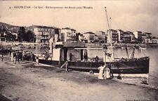 GOLFE-JUAN 4 le quai embarquement des boeufs pour l'escadre bâteaux écrite