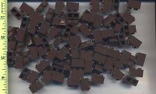 LEGO x 100 Dark Brown Brick 1 x 2 NEW bulk lot 4195 rare