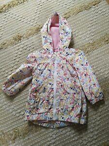 Girls Floral Raincoat Jacket Coat 1.5 - 2 Years 18-24 Months