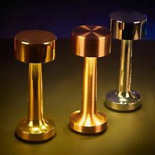 Battery Led Night Lights Chargeable Bar Brass Cordless Table Lamp Battery Desk