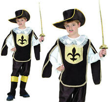 Childrens Kids 3 Musketeers Fancy Dress Costume Boys Childs Outfit L