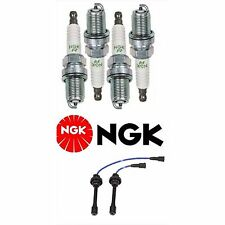 OEM NGK WIRE SET & 4 NGK SPARK PLUGS FOR 2000-2005 MITSUBISHI ECLIPSE  2.4L L4
