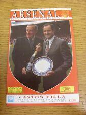 03/04/1991 Arsenal v Aston Villa [Championship Season] . Thanks for viewing our