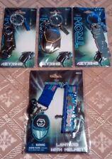 Tron Legacy Gift Set Pewter Light Cycle Helmet Keyring Disney Key chain fob RARE