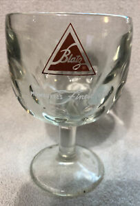 Vintage Blatz Beer Goblet Thumbprint