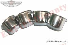 New 4 Front Rear Wheel Bearing Hub Chrome Dust Cups Caps 41-71 Willys Jeeps