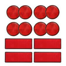 12 Purpose Red Light Reflectors Rear Trailer Reflector Disks Caravan Bike T P0P1