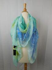Cejon Oversize Antique Lace Overlay Sheer Dressy Wrap Scarf Turquoise #6392