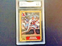 1987 TOPPS REGGIE JACKSON ANGELS CARD #300 - GRADED (6.5) EXCELLENT-NEAR MINT