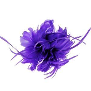 Geneva Feather Fascinator on Band in Purple (e7204pur)