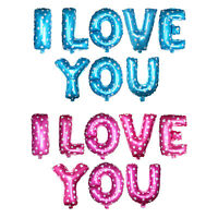 "Pink/Blue 16"" Letters ''I Love You '' Foil Balloons Set Wedding Party Decoration"