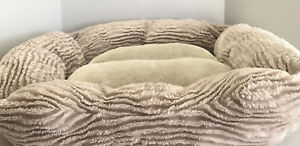 """Dog bed in great condition barely used for small dog 25""""X21""""X5"""" clean cushion"""