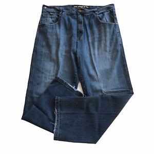 5ive Jungle & Co Men's Jeans Sz 40x34 Med Wash Denim Distressed Zip Fly 5 Pocket