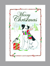 Fox Terrier Smooth Dog Christmas Cards, Box of 16 Cards & 16 Envelopes