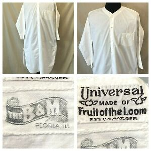 Antique Mens Nightgown Universal Made of Fruit of the Loom B&M Store Peoria S1