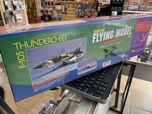 """Dumas #502 F-105 Thunderchief 15"""" Wingspan 30"""" Length Laser Cut Wood Model"""