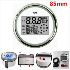 85mm Digital GPS Speedometer Odometer Gauge 0~999Knots for 9-32V Auto Car Truck