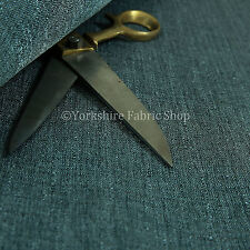 10 Meters Of New Soft Textured Boucle Weave Blue Chenille Upholstery Fabrics