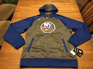 NWT New York Islanders Reebok NHL Center Ice Speedwick Full Zip Sweatshirt Sz L