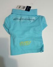 "RALPH LAUREN COTTON MESH  POLO SHIRT Turquoise PUPPY DOG OUTFIT (Sz:S)""OJGS"""