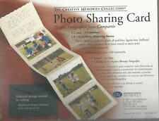 NEW Creative Memories PHOTO SHARING CARD - SPARGO - WITH PHOTO MOUNTING SLEEVES