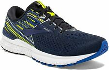 Brooks Mens Adrenaline GTS 19 Running Shoes Black Blue - 2E Width (Wide)