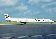 Spanair McDonnell Douglas MD-83 EC-EOZ Seen at Prague (PRG) August 1993 Postcard