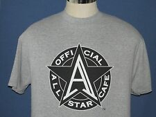 VTG 90`s ALL STAR CAFE T Shirt NEW YORK Gray Sports Gretzky Shag Griffey Size L