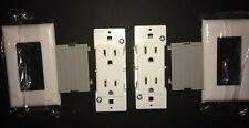 Mobile Home Receptacle Self-Contained White w/ Snap-On Plates  (2 pack)
