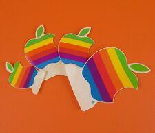 Lot 4 Vintage Apple Rainbow stickers NOS