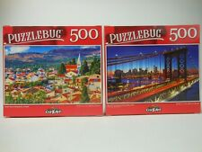 2 Puzzlebug 500 Pc Puzzles Rogozniza Croatia & Manhattan Bridge Sunset Puzzle