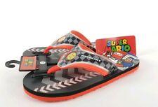 Super Mario Kart Flip Flop Boys Sandals Size 3-4 Large New Nintendo