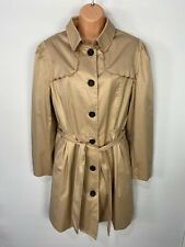 WOMENS MADEMOISELLE LA REDOUTE UK 18 CAMEL BUTTON UP BELTED TRENCH COAT JACKET