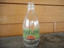 Ketchup VINTAGE Royal Crown CATSUP BOTTLE with Label tattered Farmhouse 14 OZ