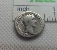 Authentic  Ancient ROMAN SILVER COIN denarius  Antoninus  Pius 138-161AD #130