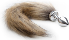 tail plug Ouch! Fox Tail Buttplug - argento