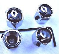 LOCKABLE RENAULT DUST/VALVE CAPS  theft van bike tyre metal