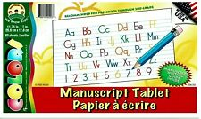 New ListingAbc Manuscript Tablet Upper & Lowercase Letters w/Writing Guide PreK - 2nd Grade