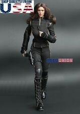 "1/6 Black Widow Costume Suit Set For 12"" PHICEN Hot Toys Female Figure U.S.A."