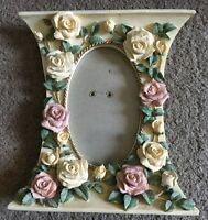 """Rose Floral Pillar Pink White Flower Photo Picture Frame Love 3.5"""" x 5"""" #D17"""