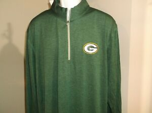 Green Bay Packers 1/4 Zip Pullover Men's Large Free Ship new with tags