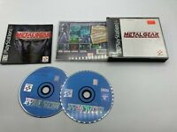 Sony PlayStation 1 PS1 CIB Complete Tested Metal Gear Solid Black Label